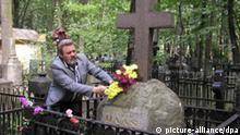 Das Grab von Friedrich-Joseph Haass auf dem früheren Deutschen Friedhof (heute Wwedenskoje-Friedhof) am 08. August 2003 in Moskau