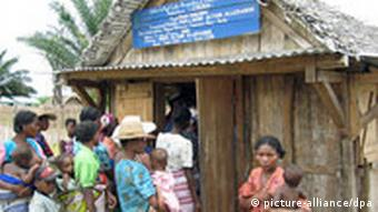Eine Station der Welthungerhilfe in Nosy Varika