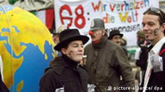 Протесты антиглобалистов из Attac