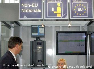 На паспортном контроле