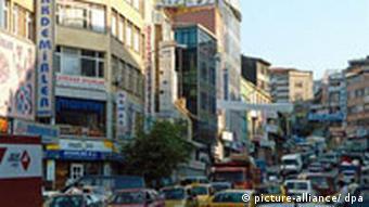 Stau, Verkehrsknotenpunkt in Istanbul