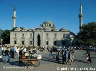Mezquita de Bayazit, en Estanbul, Turquía.