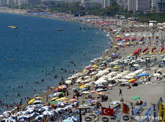 ساحل آنتالیا در ترکیه