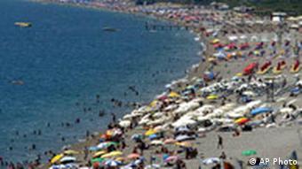 На пляже в Анталии