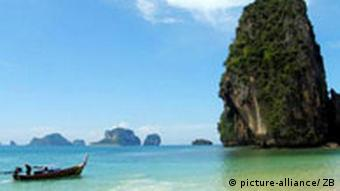 Phra Nang Strand in Thailand (Quelle: dpa)