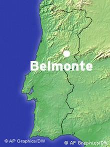 Karte Portugal Belmonte Castelo Branco PT