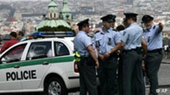Czech police in Prage