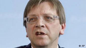 Belgien Ministerpräsident Guy Verhofstadt