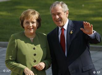 Ангела Меркель и Джордж Буш в Хайлигендамме 7 июня 2007 года