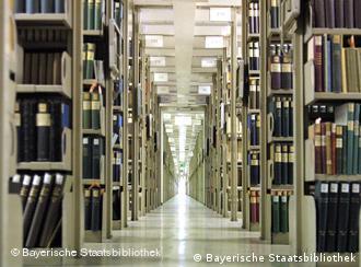 Blick ins Magazin der Bayerischen Staatsbibliothek, Quelle: Bayerische Staatsbibliothek