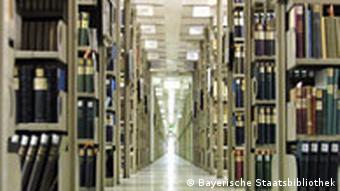 Stacks of books in the Bavarian State Library