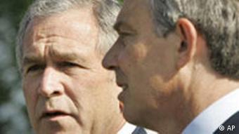 G8 Heiligendamm - Bush und Blair