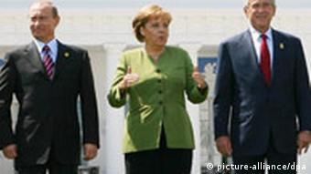 G8 Heiligendamm - Putin, Merkel, Bush