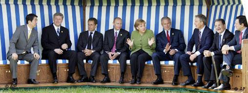 The 2007 G8 during their summit in the historic Heiligendamm sea resort on June 6-8, 2007