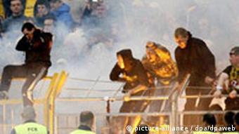Deutschland Fußball 2. Bundesliga Hooligans in Auer Erzgebirgsstadion