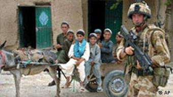 A British soldier, part of the NATO-led force in Afghanistan, in the Helmand province in 2007