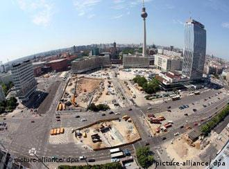 Berlin's Alexanderplatz has become a huge construction site