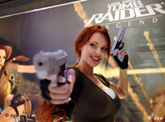 Video game character Lara Croft