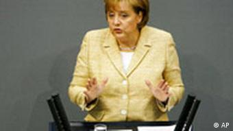 Deutschland EU Angela Merkel in Bundestag Berlin