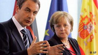 Zapatero and Merkel