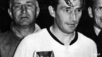 Fritz Walter after Germany's 1954 World Cup win