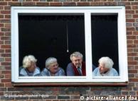 Ancianos alemanes en Hamburgo.