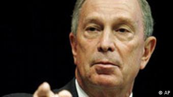 Close-up of New York Major Bloomberg