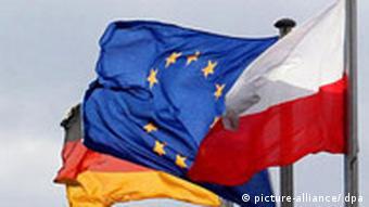 German-EU-Polish flags