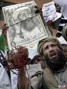 تظاهرات اسلامگرایان در روالپندی پاکستان در حمایت از بنلادن