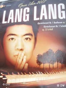 Plakat des chinesischen Pianisten Lang Lang