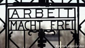 Gates at the Dachau concentration camp