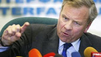 NATO Generalsekretär Jaap de Hoop Scheffer in Russland