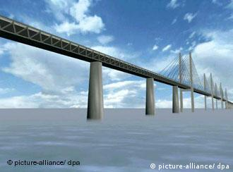 Computer image of a bridge design