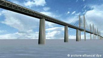 BdT Dänemark Deutschland Verkehr Brücke über Fehmarnbelt wird gebaut Brückenentwurf
