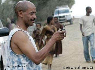 Man with a mobile phone