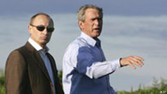George W. Bush und Wladimir Putin auf Bushs Sommerresidenz (AP)