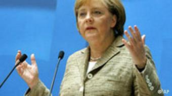 Deutschland CDU Grundsatzprogramm Angela Merkel in Berlin