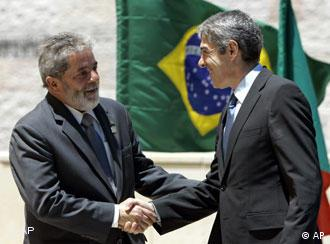 Lula y Sócrates: ''un paso hístórico'' en Lisboa.