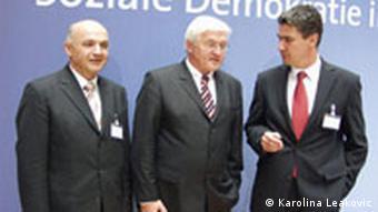 Milanović und Jurčić mit Steinmeier