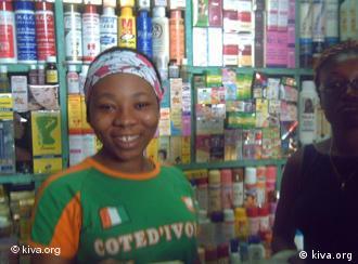 Kiva-Kreditnehmerin in ihrem Laden, Quelle: Kiva.org