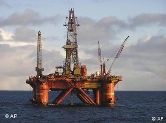 The Norwegian exploration drilling rig Deepsea Delta, in the Barents Sea