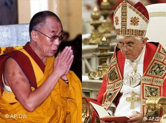 The Dalai Lama narrowly came out on top of the pope in the popularity stakes