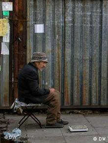 An unemployed man in Sofia, Bulgaria