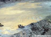 A diamond mine in Botswana