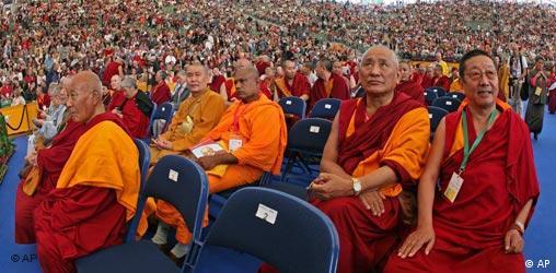 Monks at Dalai Lama event