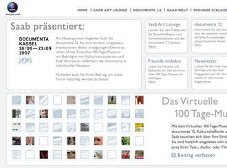 Saab.de, um blog de que todos podem participar e ajudar a formar um 'documenta' virtual