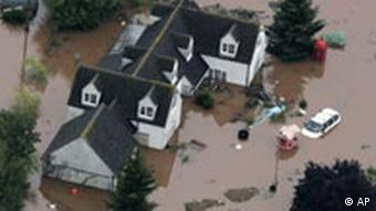 Homes in Britain under water due to floods