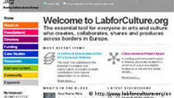Screenshot von http://www.labforculture.org/en Documenta