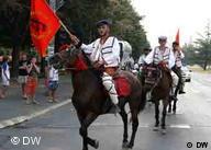 Traditionell mit den Pferden nach Krusevo