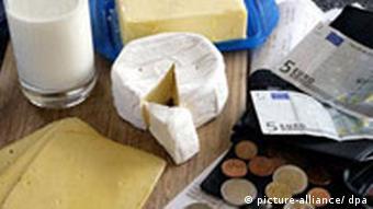 Deutschland Symbolbild Preiserhöhung bei Milchprodukten